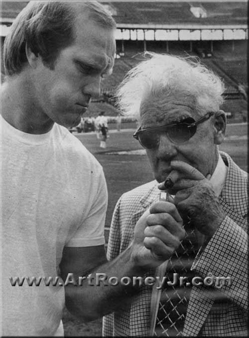 Terry Bradshaw and Art Rooney