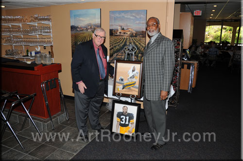 Art rooney, Jr. and L.C. Greenwood