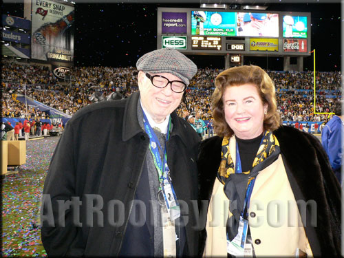 Art Rooney, Jr. and his wife Kathleen at Super Bowl XLIII