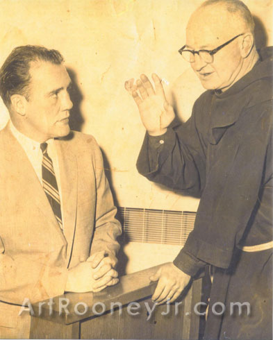 Art Rooney Sr.'s brother Dan  who became a priest known as Fr. Silas. Photo is from March 20, 1957 at St. Anthony's Shrine, Boston, MA.